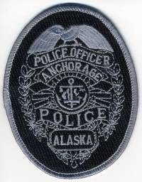 AK,Anchorage Police Badge Patch001