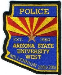 AZ,Arizona State University West Police002