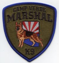 AZ,Camp Verde Marshal K-9 BLUE BORDER