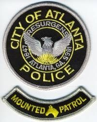 GA,ATLANTA Mounted Patrol001