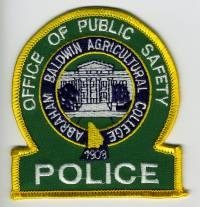 GA,Abraham Baldwin Agriculture College Police001