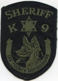 MS,A,Lee County Sheriff K-9001