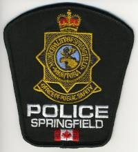 CANADA,SPRINGFIELD POLICE 3